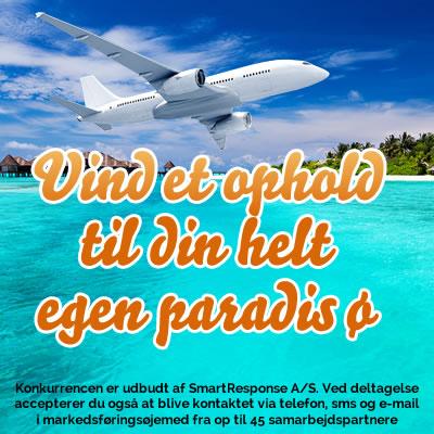 Vind et ophold til din helt egen paradis ø