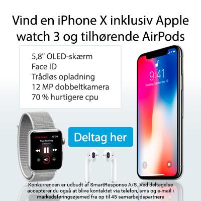 Vind en Apple pakke til 50.000 kr.