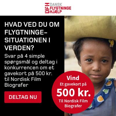 Vind gavekort på 500 kr. til Nordisk Film Biografer