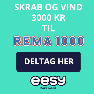 Vind et gavekort til Rema1000 på 3.000 kr.