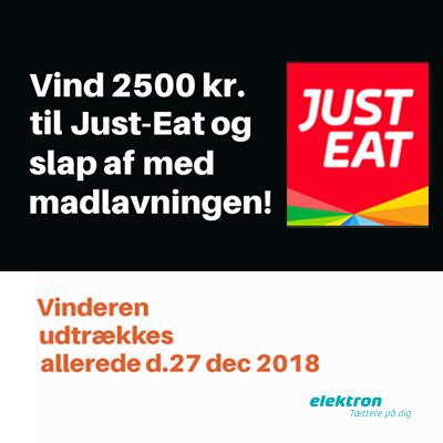 Vind 2.500 kr. til JustEat