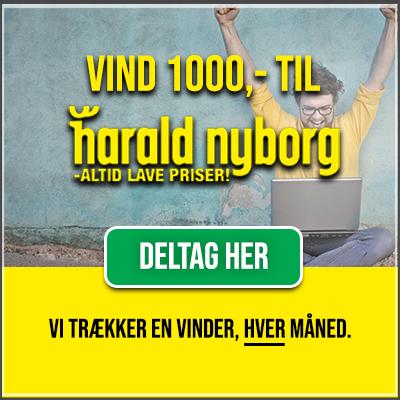 Vind et gavekort på 1.000 kr. til Harald Nyborg