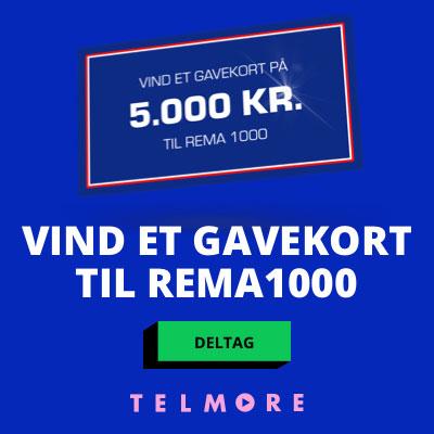Vind et gavekort på 5.000 kr. til Rema 1000