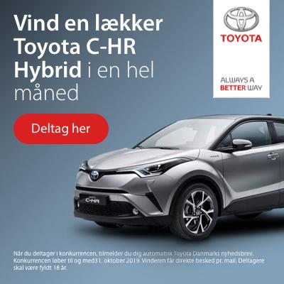 Vind en lækker Toyota C-HR Hybrid i en hel måned
