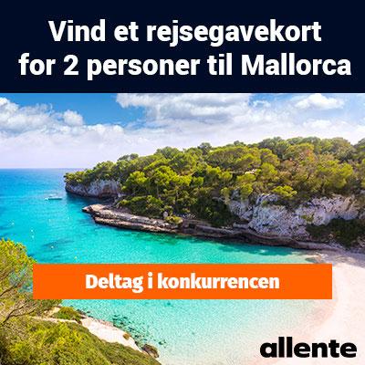 Vind et rejsegavekort til Mallorca