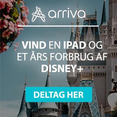 Vind en iPad og et helt års forbrug af Disney+