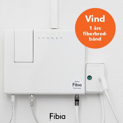 Vind et års forbrug af fiberbredbånd