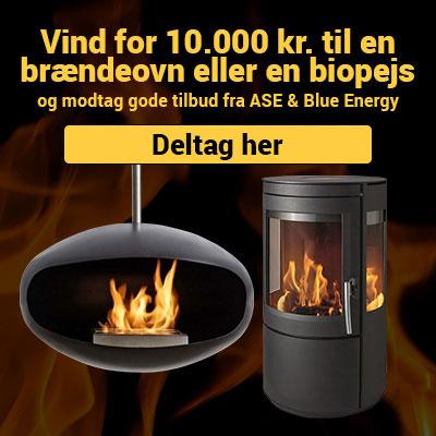 Vind 10.000 kr. til en brændeovn eller en biopejs