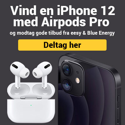 Vind en iPhone 12 med Airpods Pro
