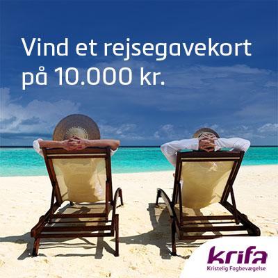 Vind et rejsegavekort på 10.000 kr.