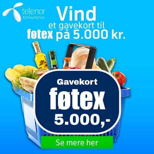 Vind et gavekort til Føtex på 5.000 kr.