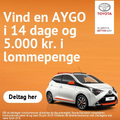Vind en AYGO i 14 dage + 5.000 kr.