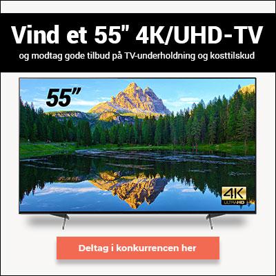 Vind 10.000 kr. til et 55 tommer TV