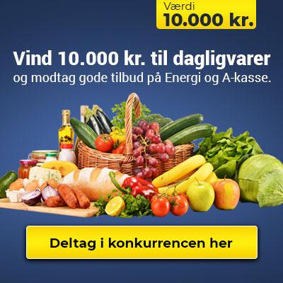 Vind 10.000 kr. til dagligvarer
