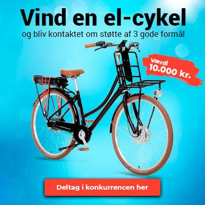 Vind 10.000 kr. til en el-cykel